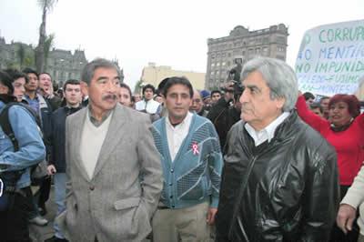 Infiltrados en la marcha contra la corrupción